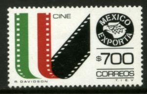 MEXICO Exporta 1498 $700P Movies Fluor Paper 13 MNH