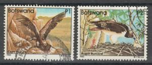 BOTSWANA 1982 BIRDS 1P AND 2P TOP 2 VALUES