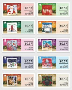 Stamps of the Isle of Man 2019. - New Year Cards 2019 - Christmas Spirit - Self-