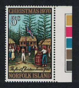 Norfolk Christmas 1v issue 1970 Right Margin Traffic Lights SG#120 SC#143