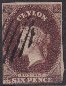 Ceylon 1857-1859 SC 7A Used