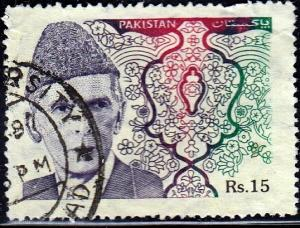Pakistan #815 Mohammad Ali Jinnah, 1994. Used, PM, Lt Crease