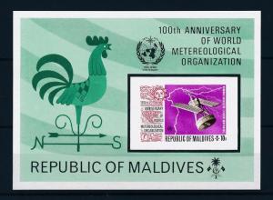 [36708] Maldives 1973 World Metereological organization Imerforated SS MNH