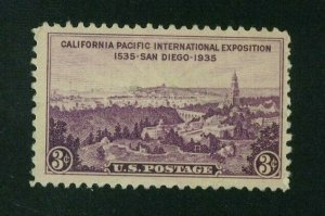 US 1935 3c purple California Pacific Expo., Scott 773 Mint No Gum, Value = 35c
