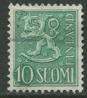 Finland - Scott 316 - Arms of Finland -1954- FU - Single 10m Stamp