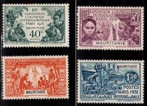 Mauritania Scott 65-68 MH* 1931 Paris Exhibition set
