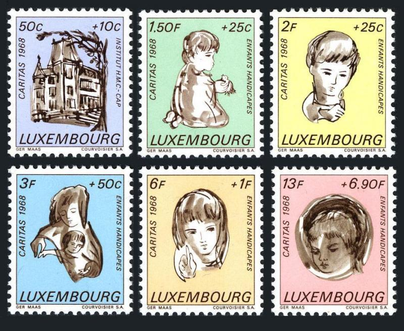 Luxembourg B264-B269,MNH.Medico-professional Institute.Handicapped children.1968