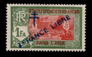 FRENCH INDIA  Scott 165 MH* France Libre  overprint