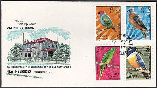 NEW HEBRIDES FRENCH 1972 Birds FDC.........................................55052