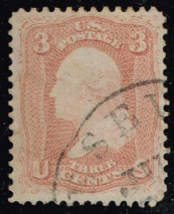 US STAMP # 65 Series of 1861-62 3¢ Washington USED