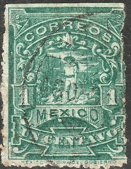 MEXICO 269, 1cent MULITA WMK EAGLE AND RM USED (346)