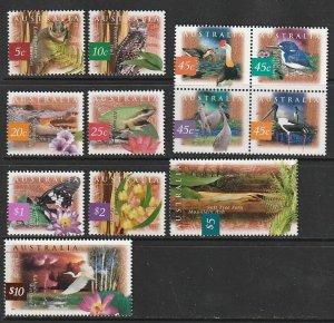 1996 Australia - Sc 1524-35 - MNH VF - Flora and Fauna