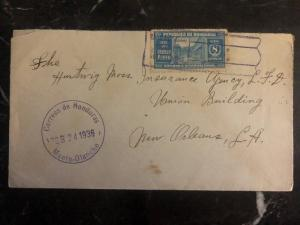 1936 Manto Honduras Commercial Cover New Orleans La USA