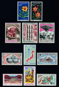 CAMEROUN — SCOTT C88//C272 — 1967-78 (6) AIRMAIL SETS — MNH/MH — SCV $49.75
