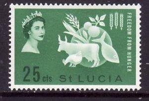 St Lucia-Sc#179-unused LH Omnibus set-QEII-Freedom from Hunger-