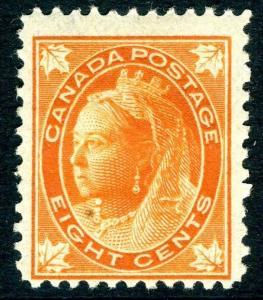 CANADA-1897 8c Orange Sg 148  MOUNTED MINT V18902