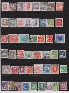 LOT OF DIFFERENT STAMPS OF CZECHOSLOVAKIA USED (48) LOT#169