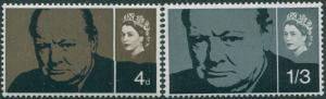 Great Britain 1965 SG661-662 QEII Churchill set MLH