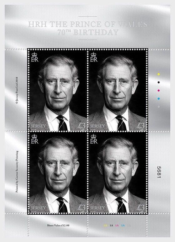 H01 Guernsey 2018 HRH The Prince of Wales 70th Birthday Sheetlets MNH Postfrisch