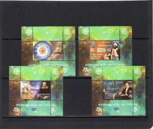 Chad 2009 EUROPA CEPT 50th.Anniversary/ Galileo/Aristotle S/S (4) Perforated MNH