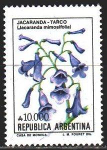 Argentina. 1990. 2028. Jacaranda, flowers, flora. USED.