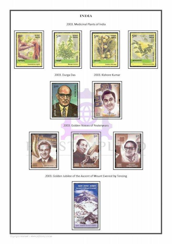 INDIA 1947-2019 PDF (DIGITAL) STAMP ALBUM PAGES