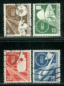 Germany Bund Scott # 698 - 701, used