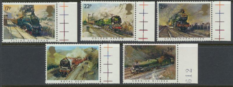 GB SG 1272 - 1276  SC# 1093-1097 Mint Never Hinged - Famous Trains