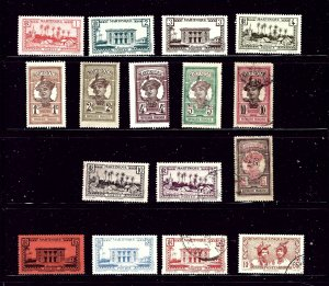 Martinique 16 different used and unused stamps