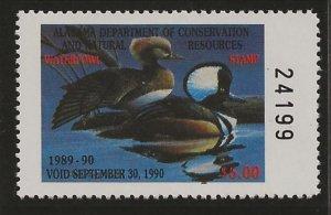 Catalog # AL 89  state duck Stamp Alabama Dept of Natural Resources Face Value