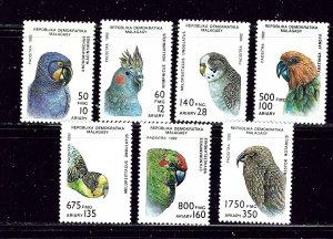 Malagasy 1114-20 MNH 1993 Birds  missing top value
