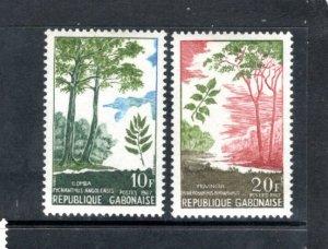 GABON 224-5 MNH VF Trees