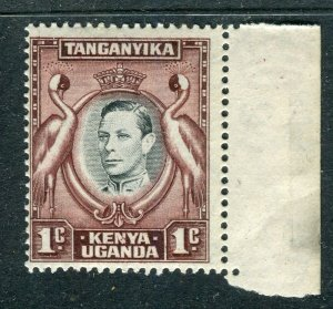 BRITISH KUT; 1938 early GVI issue fine Mint hinged Shade of 1c. value
