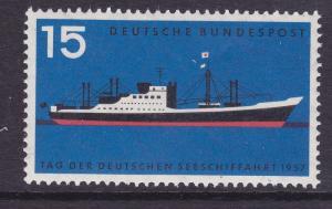 Germany 767 MNH OG 1957 Passenger Freighter Merchant Marine Day Issue VF