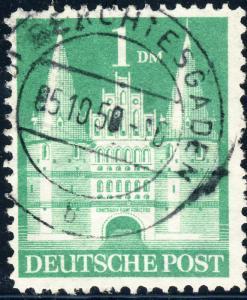 ALLEMAGNE / GERMANY Bizone 1948 Mi.97bYIIB(97.IIwg) 1DM T2 p.11 F/VF Used (a)