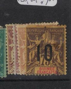 French Guinea SC 20-1, 25, 29 MOG (10duj)