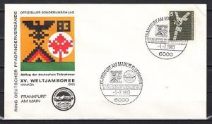 Germany, 1983 issue. 01/JUL/83. World Scout Jamboree Cancel on Cachet Cover.