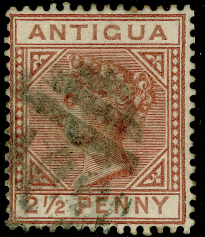 ANTIGUA SG22, 2½d red-brown, FINE used. Cat £55.