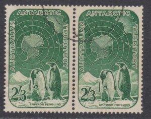 Australia # L5 , Emperor Penguin and Map , VF Used Pair  - I Combine S/H