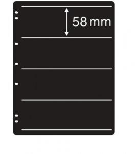 Prinz System Stock Sheets Single Sided 7 Hole Punch - 4 Strip Pocket  (10 pages)