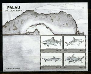 PALAU 2019  NATURAL ARCH FISH SHEET OF FOUR MINT NEVER HINGED