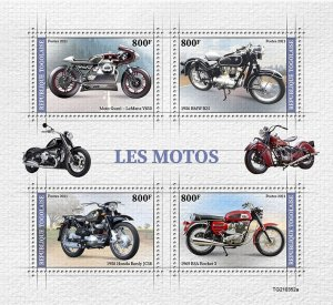 TOGO - 2021 - Motor Cycles - Perf 4v Sheet - Mint Never Hinged