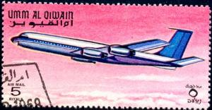 Airplane, Umm Al Qiwain stamp Used