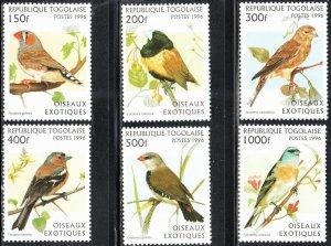 Togo 1784-89 - Mint-NH - Exotic Birds (Cpl) (1996) (cv $11.60)