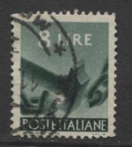 Italy - Scott 486 - Definitive -1947 -VFU - 8I Stamp
