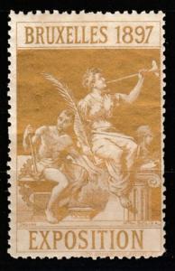 1897 Bruxelles Exposition vignette MNH **