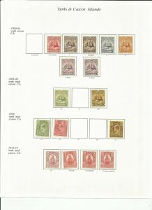 TURKS AND CAICOS 1900- 28 MH KING EDWARD VII AND GEORGE V SCV $250+++ 3 SCANS