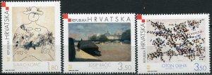 Croatia 2003. Croatian Modern Painting (MNH OG) Set of 3 stamps