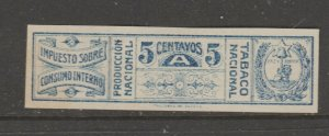 Paraguay Revenue Fiscal Stamp 12-18-20- extra nice