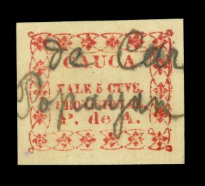 COLOMBIA 1890 CAUCA - Local stamps 5ctv red - cancelled ..de Correo Popayan RR